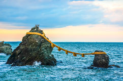 Meoto Iwa. The Married Couple Rocks in Japan Royalty Free Stock Image