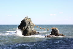 Meoto Iwa (The Wedded Rocks) Stock Images