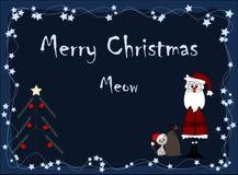 meow Χριστουγέννων εύθυμο Στοκ φωτογραφίες με δικαίωμα ελεύθερης χρήσης