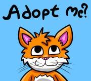 Meow пожалуйста принимает меня! Стоковое фото RF