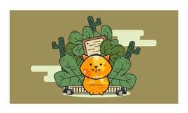 Meow 16061996 характеров дизайна оранжевый Стоковое Изображение RF