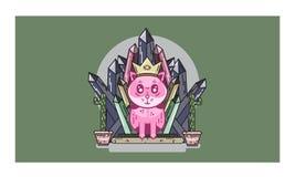 Meow характеров дизайна розовый Стоковая Фотография RF