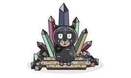 Meow 16061996 характеров дизайна черный Стоковая Фотография