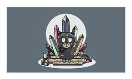 Meow 16061996 характеров дизайна черный Стоковые Фото