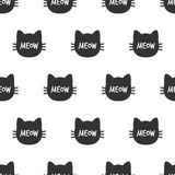 meow Cat Head Modèle sans couture de chat mignon Vecteur Image stock