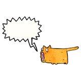 Meowing cat cartoon Royalty Free Stock Photos
