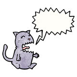 Meowing cat cartoon Stock Photo