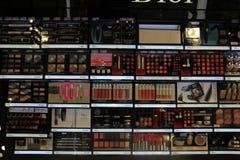 Meppen, Германия, 14-ое августа 2017: Продукты косметики Кристиана Dior Стоковое Изображение
