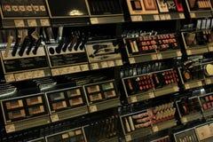 Meppen, Германия, 14-ое августа 2017: различные роскошные продукты косметики Lancome Стоковые Изображения