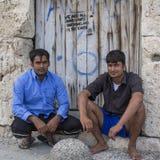 Mer än halva är migranter från Syrien, men det finns flyktingar från andra länder Royaltyfria Foton