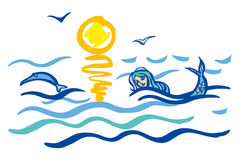 mer illustration libre de droits