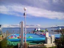 Mer Adriatique d'Opatija de ville, Croatie Photo stock
