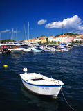 mer adriatique de bateau Photo stock