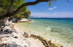 Mer Adriatique sur Peljesac, Dalmatie Images libres de droits