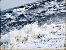 Mer agitée un jour d'hiver Images stock