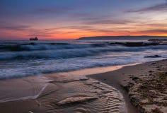 Mer après coucher du soleil Photos libres de droits