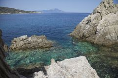 Mer Athos Greece Lagoon Photographie stock