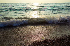 Mer au coucher du soleil photos libres de droits