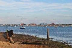 Mer avec des bateaux Photographie stock libre de droits