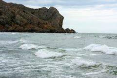 Mer avec des ondes Photographie stock