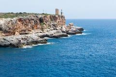 Mer avec la roche Photo libre de droits