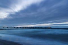 Mer baltique après coucher du soleil Image libre de droits