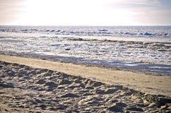 Mer baltique congelée chez Jurmala Photo libre de droits