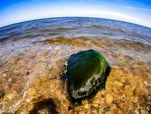Mer baltique dans le fisheye Photo libre de droits