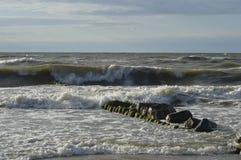 Mer baltique dans une tempête Image libre de droits