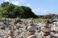 Mer baltique de plage en pierre Photographie stock libre de droits