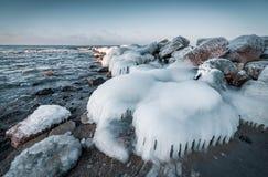 Mer baltique en hiver Photo stock
