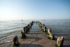 Mer baltique et brise-lames Photos libres de droits