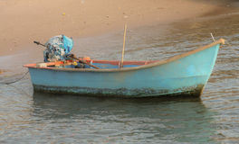 Mer, bateau, crépuscule Image stock