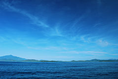 Mer bleue Photo stock