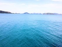Mer bleue Photographie stock