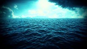 Mer bleue, ciel, introduction Logo Scene Background de nuages banque de vidéos