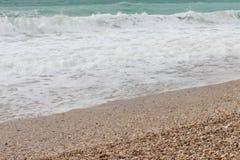Mer bleue - plage Photographie stock libre de droits