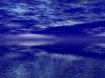 Mer bleue profonde photo stock