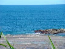Mer bleue profonde Photo libre de droits