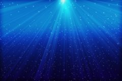 Mer bleue profonde images libres de droits