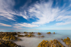 Mer brumeuse Photo libre de droits