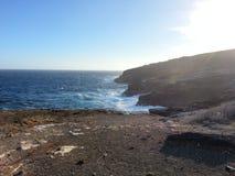 Mer côtière occidentale dans Oahu HAWAÏ Etats-Unis photo stock