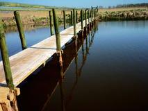 Mer calme bleue d'horizon Photos libres de droits