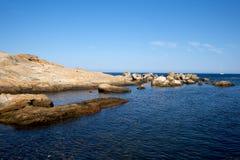 mer campese d'île de giglio Photos stock