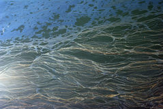 Mer Caspienne polluée Photographie stock libre de droits