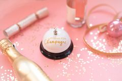 Mer champagne behar royaltyfri fotografi