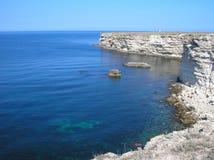 Mer, ciel, roches Images libres de droits