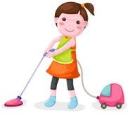 mer cleaner användande vakuumkvinna Royaltyfri Foto