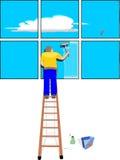 mer cleaner fönster Arkivfoton