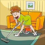 mer cleaner vakuumkvinna Fotografering för Bildbyråer